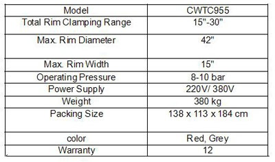 Tire Replacement Specification