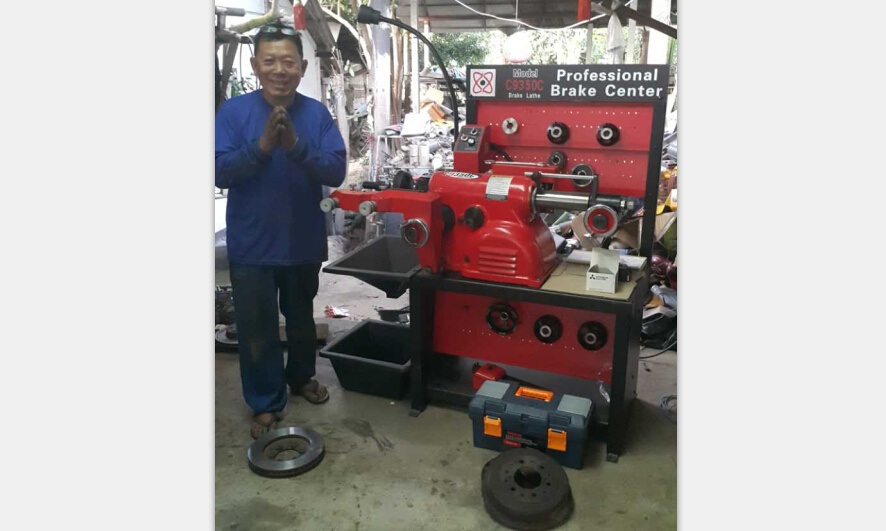 My Thailand customer and his brake lathe C9350C